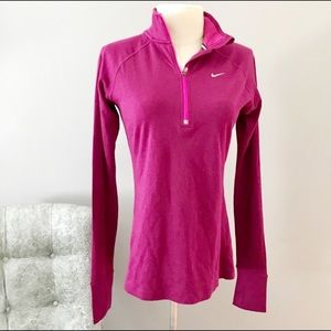 Nike Dri Fit running pullover size S thumbholes
